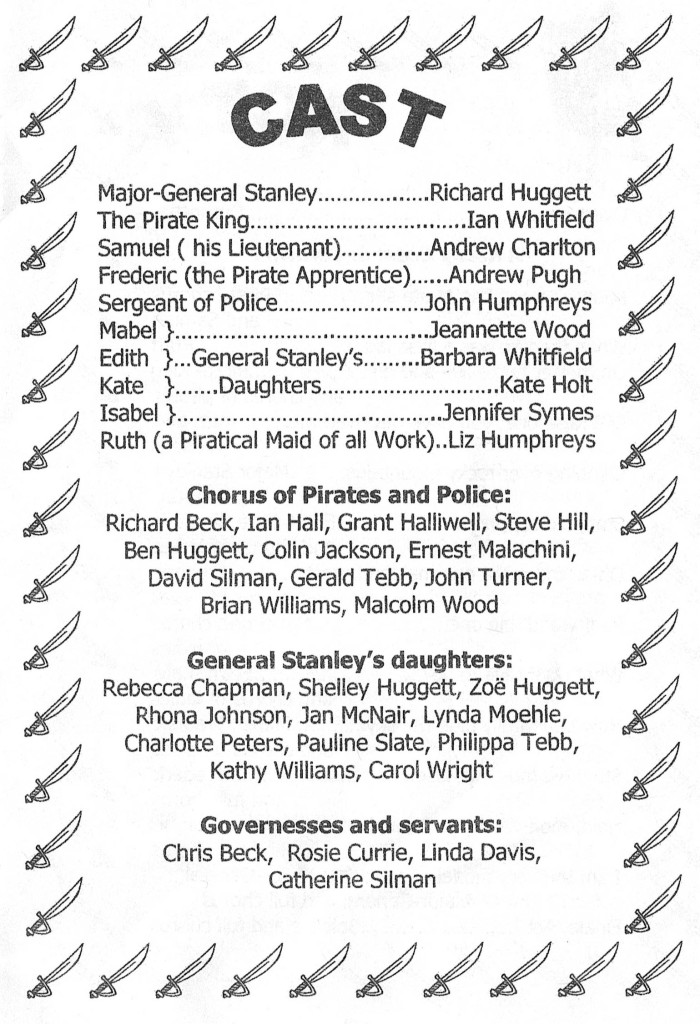 2005 Pirates cast list